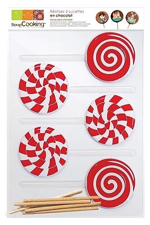 ScrapCooking 9504 Candy Pop Molde para Chupete ingrédients 24,5 x 16 x 1 cm, Juego de 5: Amazon.es: Hogar