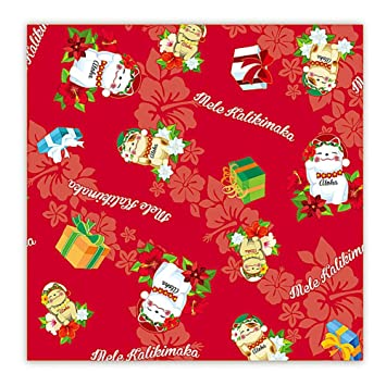 holiday lucky cat hawaiian christmas gift wrap paper 2 rolls - How To Wrap A Cat For Christmas