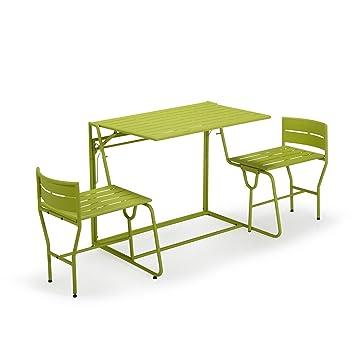 Picnic Salon de jardin/balcon transformable anis Vert anis - Alinea ...