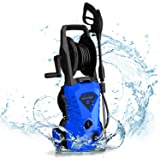 WHOLESUN 3000PSI Electric Pressure Washer 1.8GPM 1600W Power Washer with with Hose Reel and Brush Blue