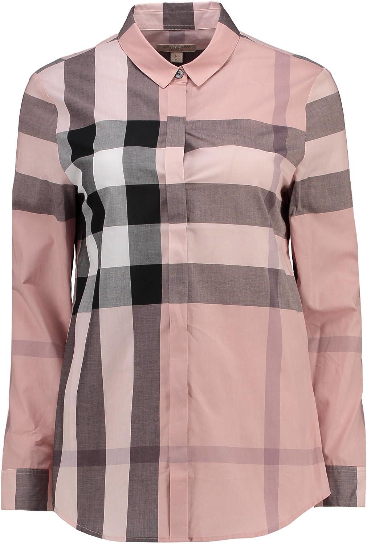Burberry - Camisa con diseño de cuadros rosas para mujer Rosa L: Amazon.es: Ropa y accesorios