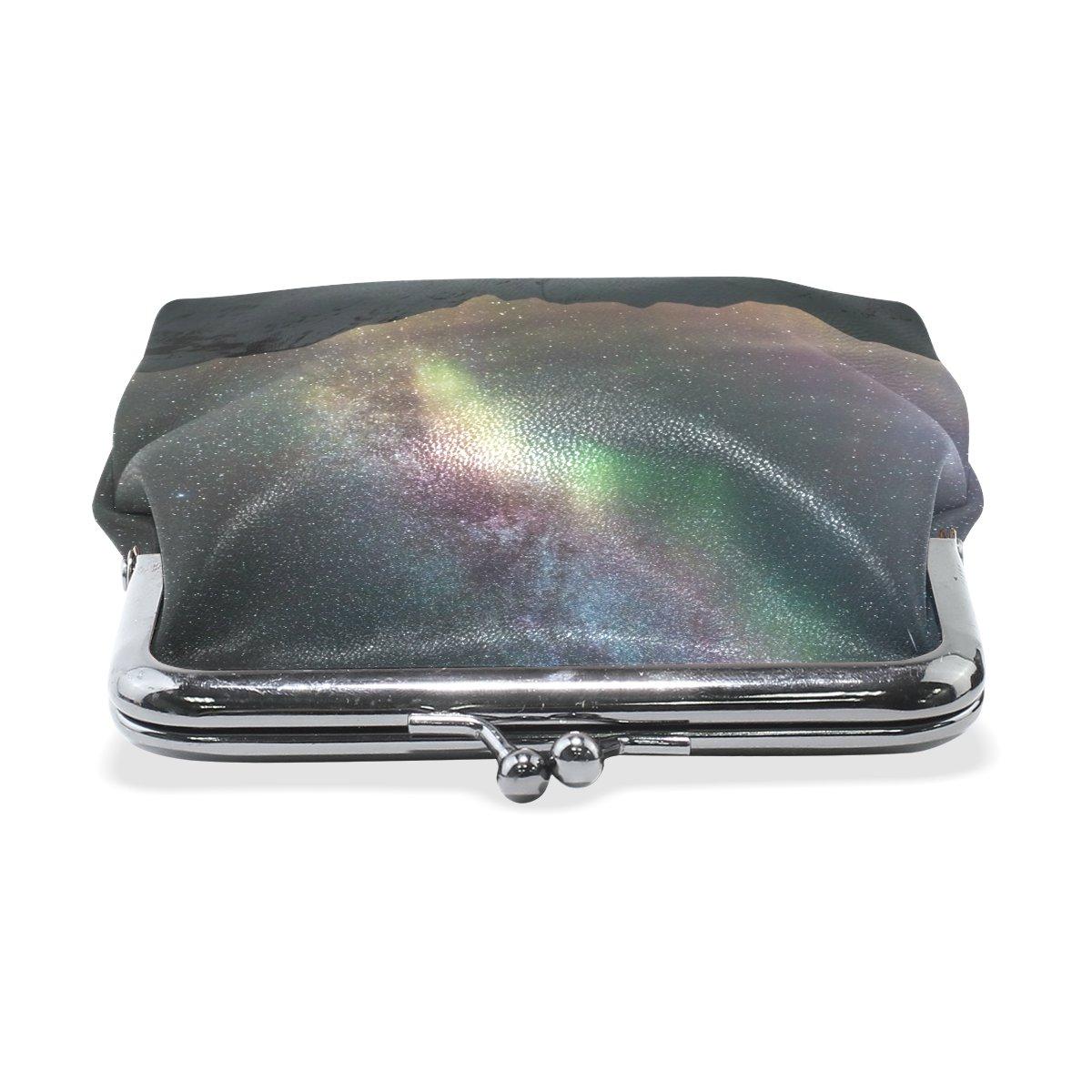 Coin Purse Night Stars Mountain Wallet Buckle Clutch Handbag For Women Girl Gift