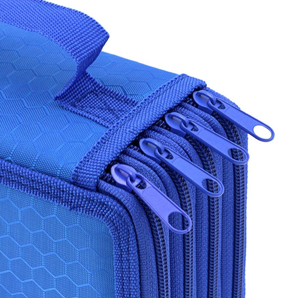 BTSKY Handy Wareable Oxford Colored Pencil Case 72 Slots Pencil Organizer Purple