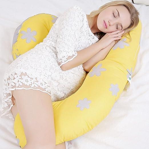 YAHAO Almohada Embarazada Dormir Y Lactancia Almohada De ...