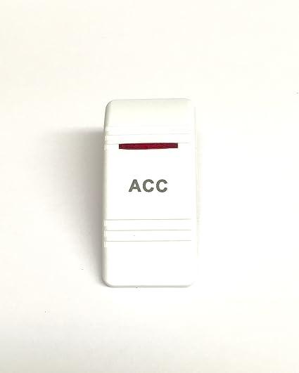 ON//OFF -SPST SEACHOICE Contura Rocker Switch Illuminated Lighted White 12971