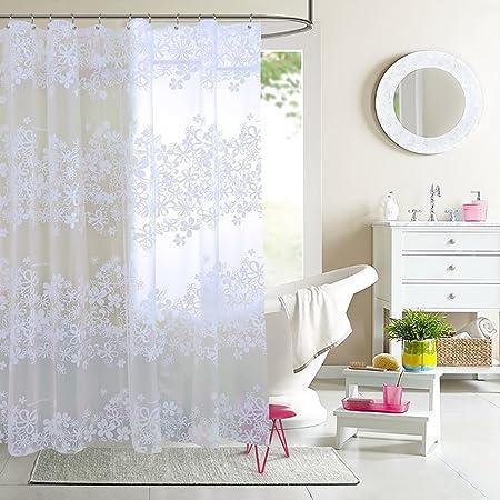 Cortinas de ducha Sistema no perforado [tela impermeable] Cortina de ducha espesada del cuarto de baño Las cortinas de mampara de baño La cortina de ducha-A 180x200cm(71x79inch): Amazon.es: Hogar