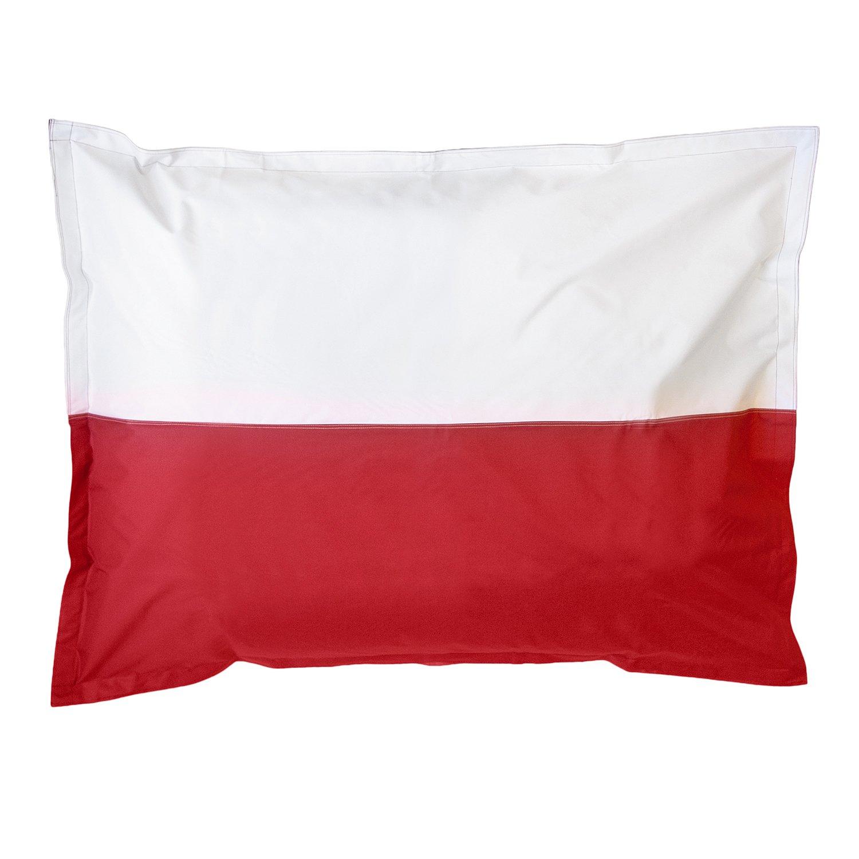 Lumaland Poltrona sacco gigante XXL Bandiera Polonia riempimento da 380 lt 140x180 cm per interni ed esterni