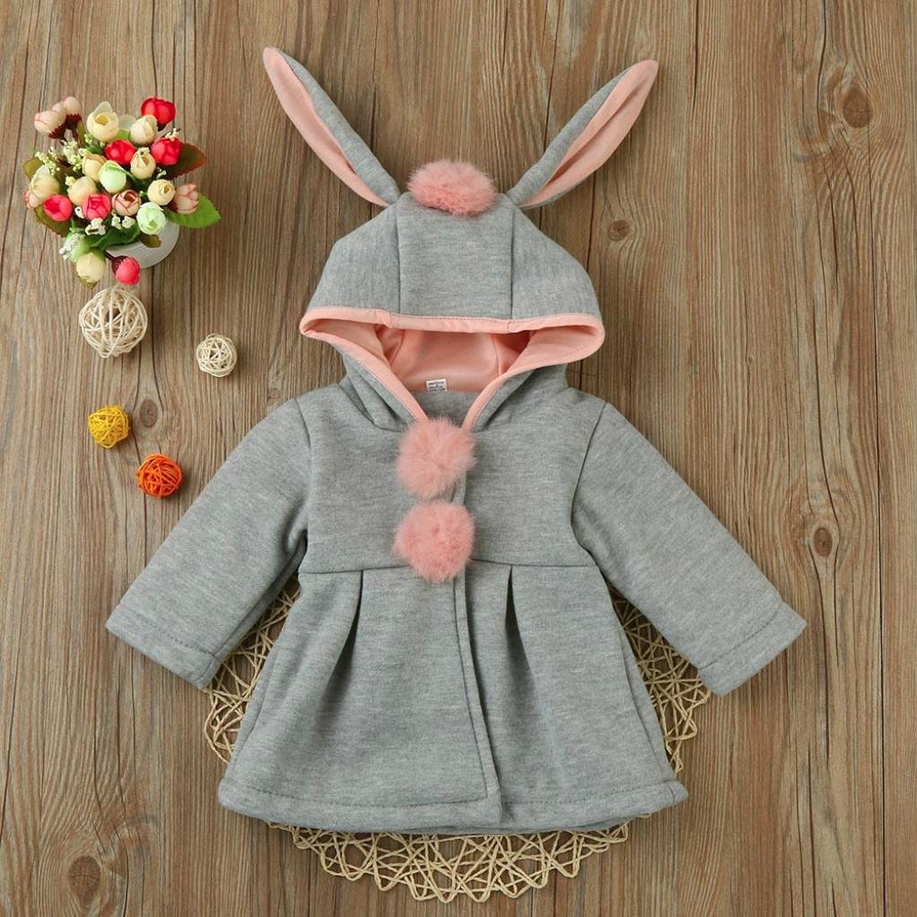 KONFA Teen Toddler Baby Girls Winter Warm Clothes,Solid Color Hooded Jacket Wind Coat,Kids Cotton Thick Snowsuit Cloak Set