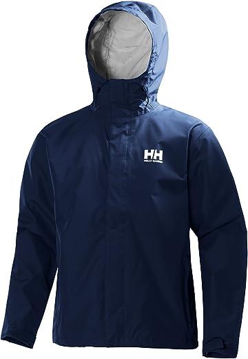 سترة مطر للرجال من Helly Hansen مقاومة للماء والرياح وجيدة التهوية مع غطاء للرأس