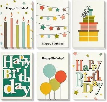 Amazon.com: Tarjeta de cumpleaños – Paquete de 48 tarjetas ...