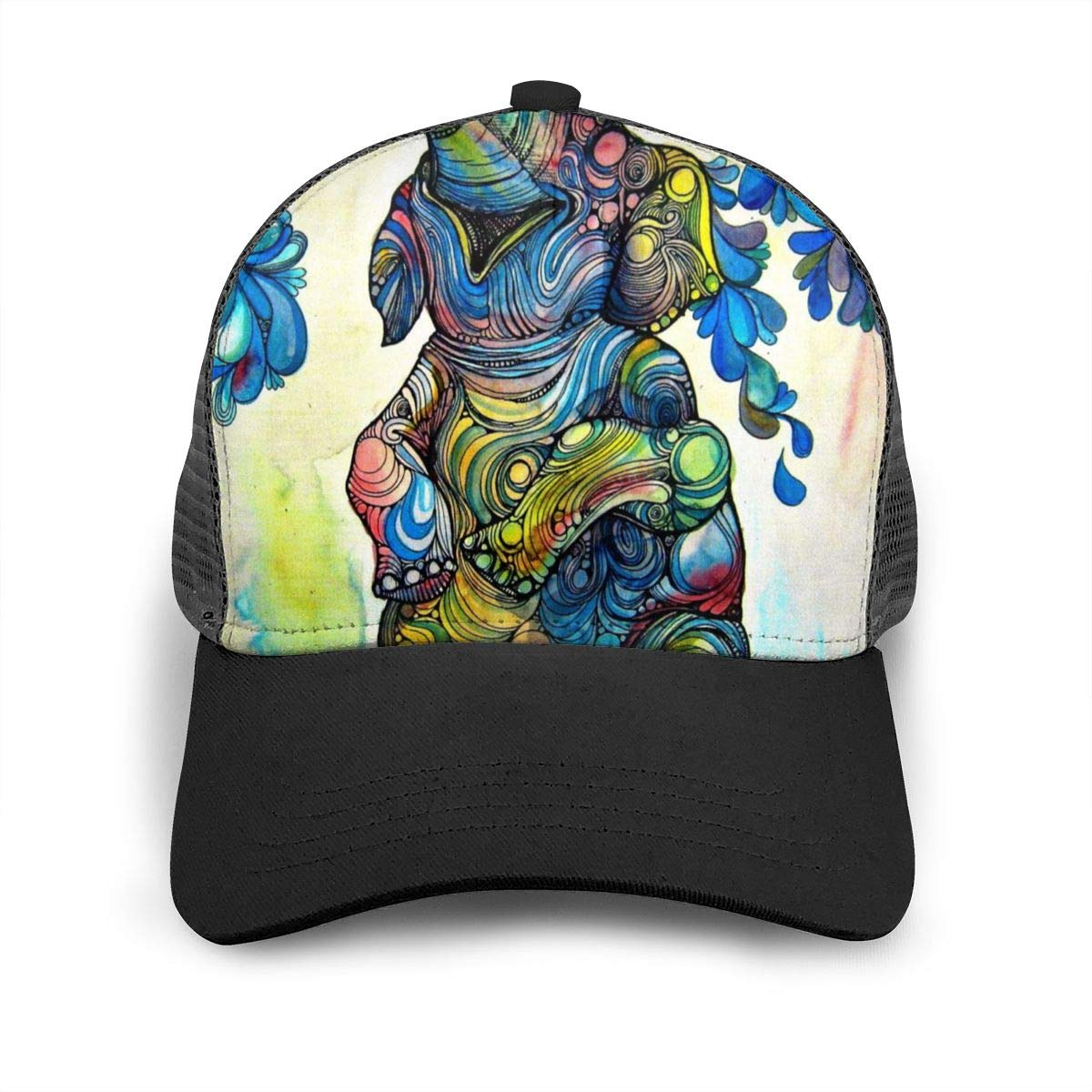 Fashion Dad Hat for Unisex Mens Elephants Paddle in The Water Flat Baseball Cap