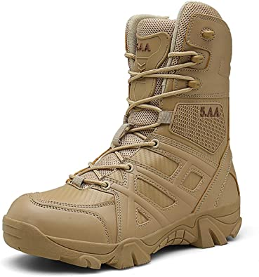Botas de Senderismo Militares tácticas Impermeables Altas para Hombres Botas de Trekking de montaña Antideslizantes y Antideslizantes