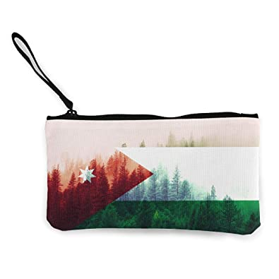 6b6df930cef439 Image Unavailable. Image not available for. Color  Coin Purse Jordan Flag  With Forest Cute Travel Makeup ...
