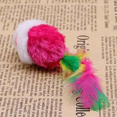 Jiamins 10 Pack ratón Gato Juguete coloré drôle ratón pequeña ratón Cola Gato Juguete Gatos: Amazon.es: Productos para mascotas