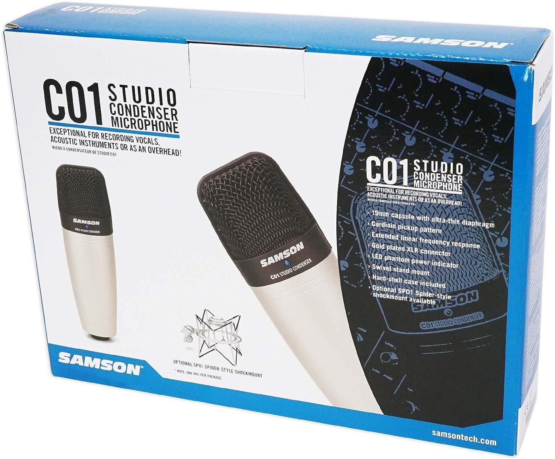 Samson C01 Studio Recording Microphone+Curved Pop Filter Windscreen+Shock Mount