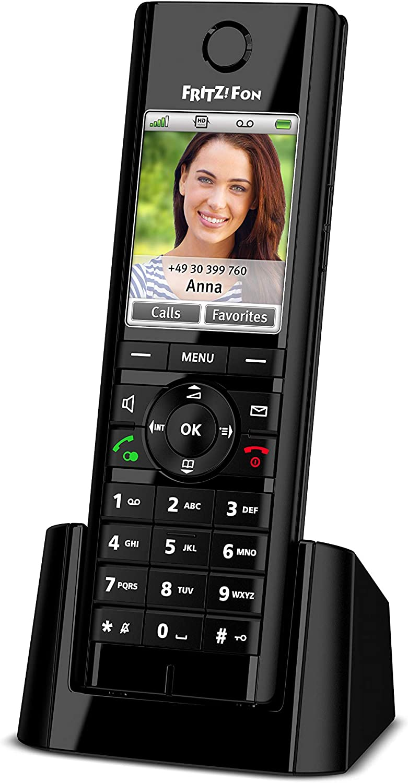 AVM FRITZ!Fon C5 International - Teléfono inalámbrico DECT, pantalla a color, telefonía HD, menú en Español