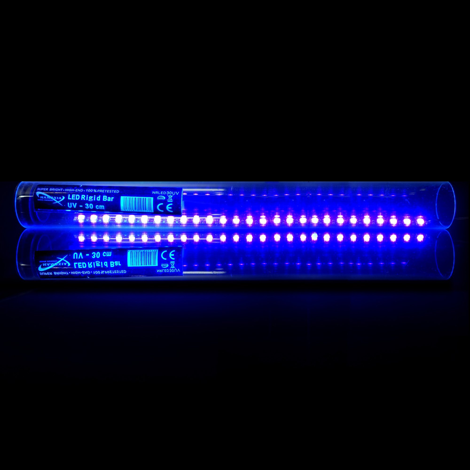 Nanoxia UV Rigid LED Bar with Magnetic Backing and SATA Powered, Ultra Bright 30cm 2-Pack