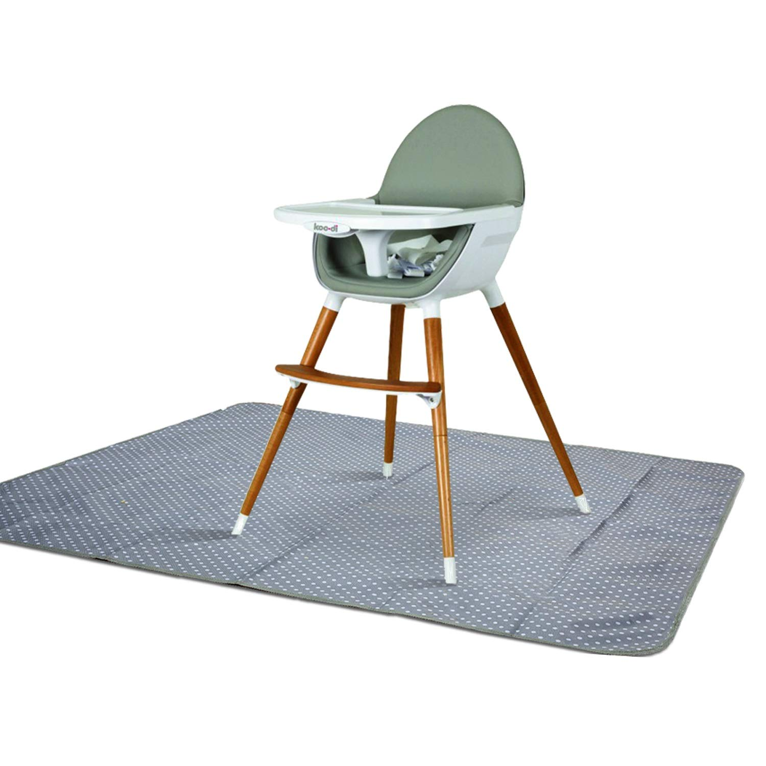 Splat Mat for Under High Chair - Splash Mat | Washable & Water Resistant | Non-Toxic | Multiple Uses | Easy to Wipe | Quick Drying | Large 42 inch Size | Comes w/Carrying case for Floor or Table