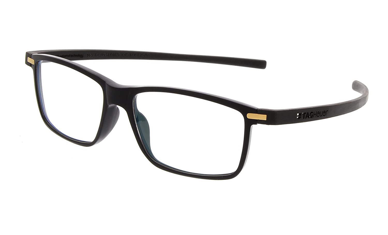 Amazon.com: TAG Heuer Eyeglasses 3951 011 Reflex 3 Black Gold 3951 ...