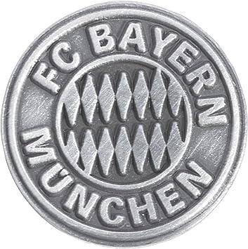 pin fc bayern munchen emblem silber 1 5 x 1 5 cm gratis aufkleber flaggenfritze