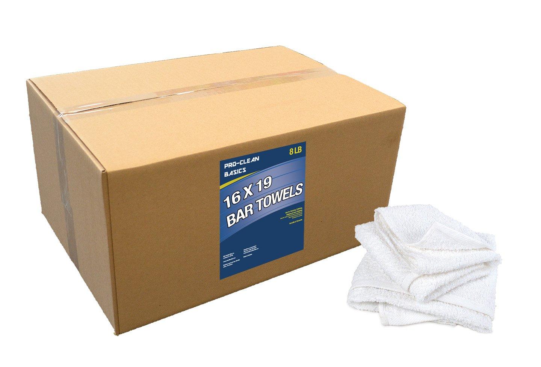 Pro-Clean Basics A51754 16' x 19' bar Towels - 4 lb. Box