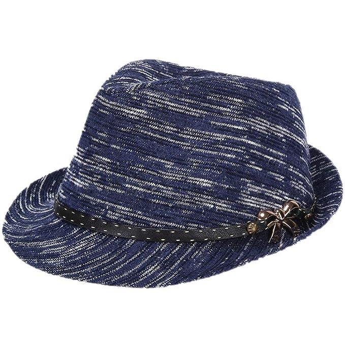HaiDean Gorros Damas Hombres Sombrero Sombreros Fieltro De ...