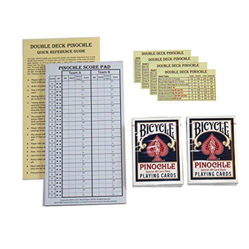Amazon Pinochle Score Pad Gift Set Blue 40Page Score Pad – Sample Pinochle Score Sheet