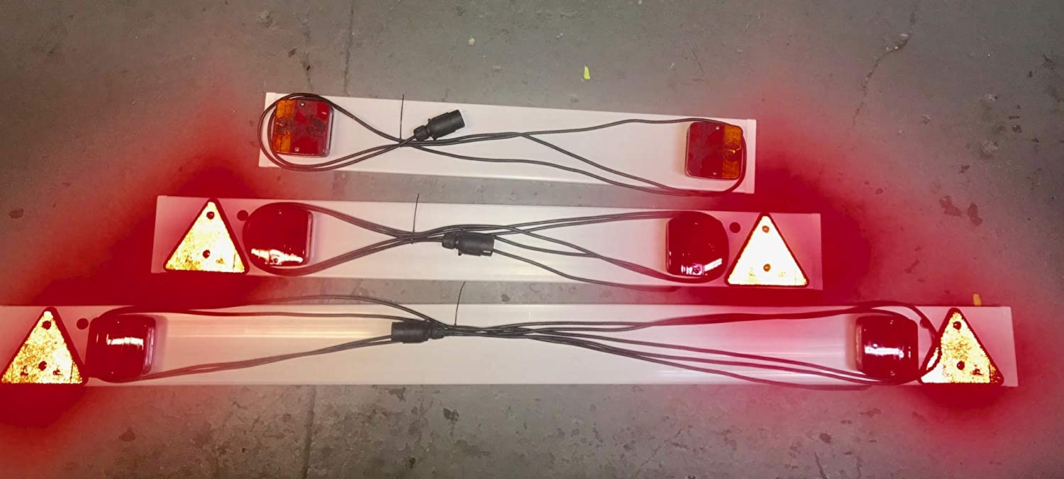 4ft ANZ Trailer Light Board 3ft 6ft lengths with Extension Cable and Trailer 7-Pin Plug 6FT