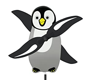 WindNSun WhirlyGig Outdoor Animated Decor, Penguin