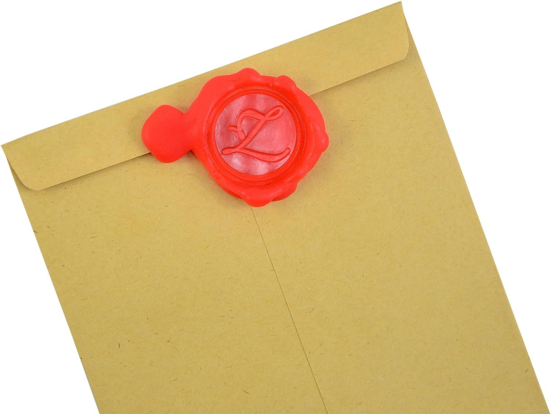 P Wax Seal Stamp Sealing Wax Classic Initial Alphabet Retro Wood Z001