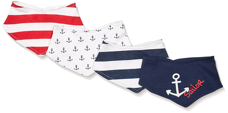 Twins Unisex Baby Neckerchief, 4-Pack Multicoloured One Size Julius Hüpeden GmbH 2 302 01