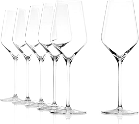 Copas para vino blanco Quatrophil de Stölzle Lausitz, de 350 ml, juego de 6, aptas para lavavajillas