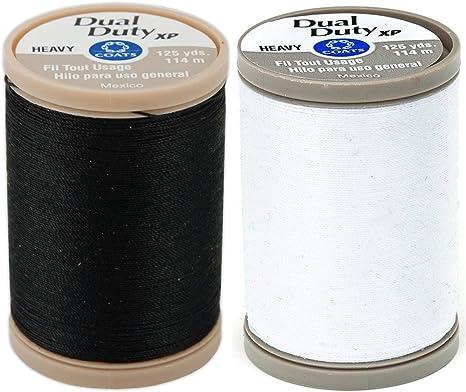 125-Yard COATS /& CLARK S950-0900 Dual Duty XP Heavy Thread Black 1 Pack