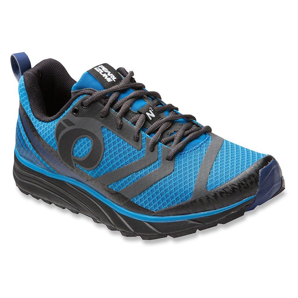 Pearl iZUMi Men's EM Trail N2 v2 Running Shoe B011R49MV0 7.5 D(M) US|Black/Fountain Blue