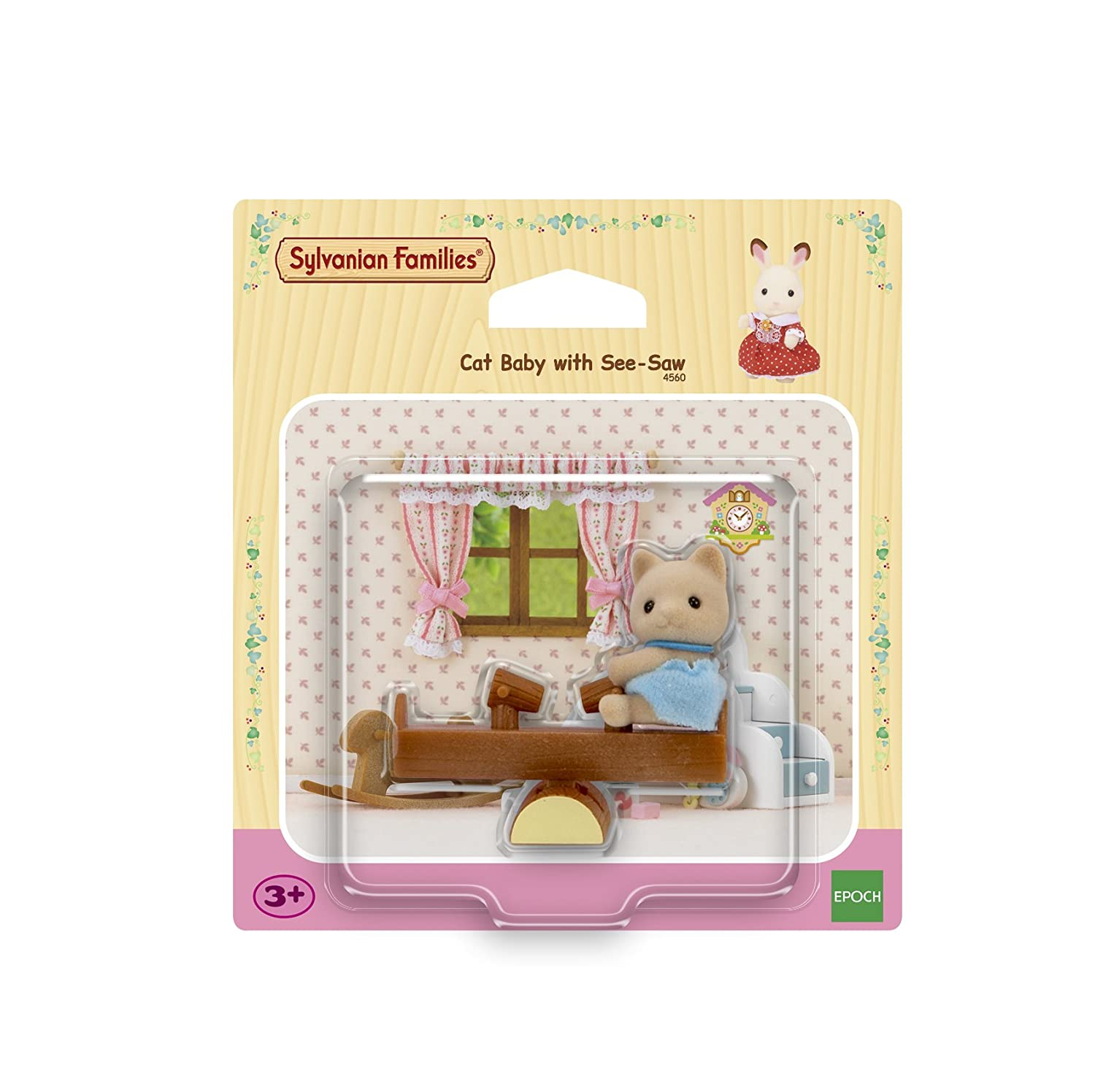 Sylvanian Families 4560 Cat Baby Toy with See-Saw Epoch