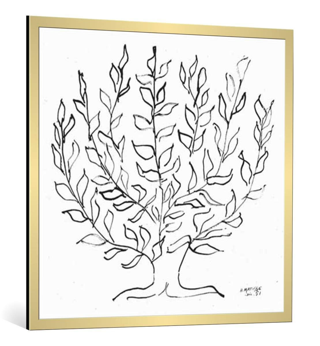 Kunstdruck  Poster  Kunstdruck Henri Matisse Le platane 1951