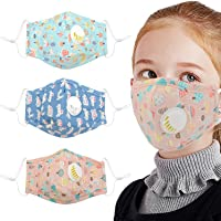 Coxeer 3PCS Kids Mouth Mask Cartoon Print Cotton Mask Facial Mouth Cover for Baby