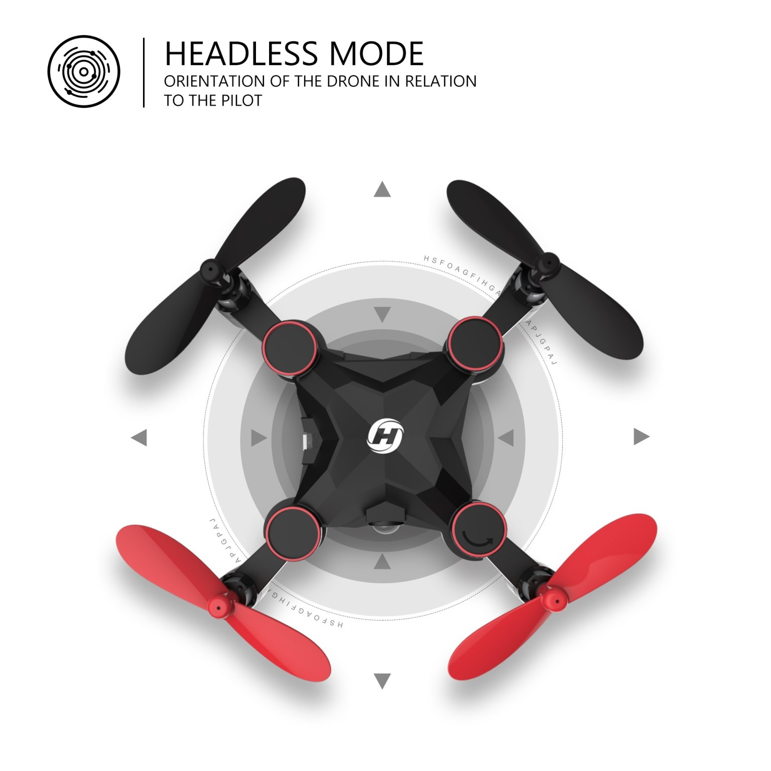 Holy Stone HS190 Foldable Mini Nano RC Drone for Kids Gift Portable Pocket Quadcopter with Altitude Hold 3D Flips and Headless Mode Easy to Fly for Beginners by Holy Stone (Image #4)