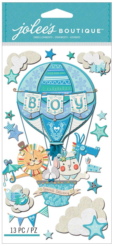 """Jolees Boutique Adesivi 3D per nascita maschietto con scritta /""""Boy Special Delivery/"""""""