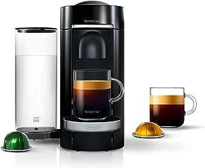 Nespresso VertuoPlus Deluxe Coffee and Espresso Machine by De'Longhi, Black