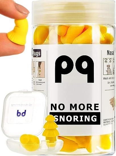 PQ Earplugs for Sleep: No More Snoring - 35 Pairs of Soft