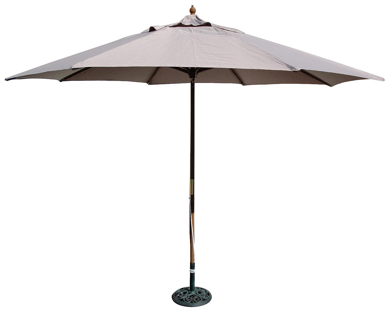 Amazon.com : TropiShade 11 Foot Wood And Poly Market Umbrella, Taupe : Patio  Umbrellas : Garden U0026 Outdoor