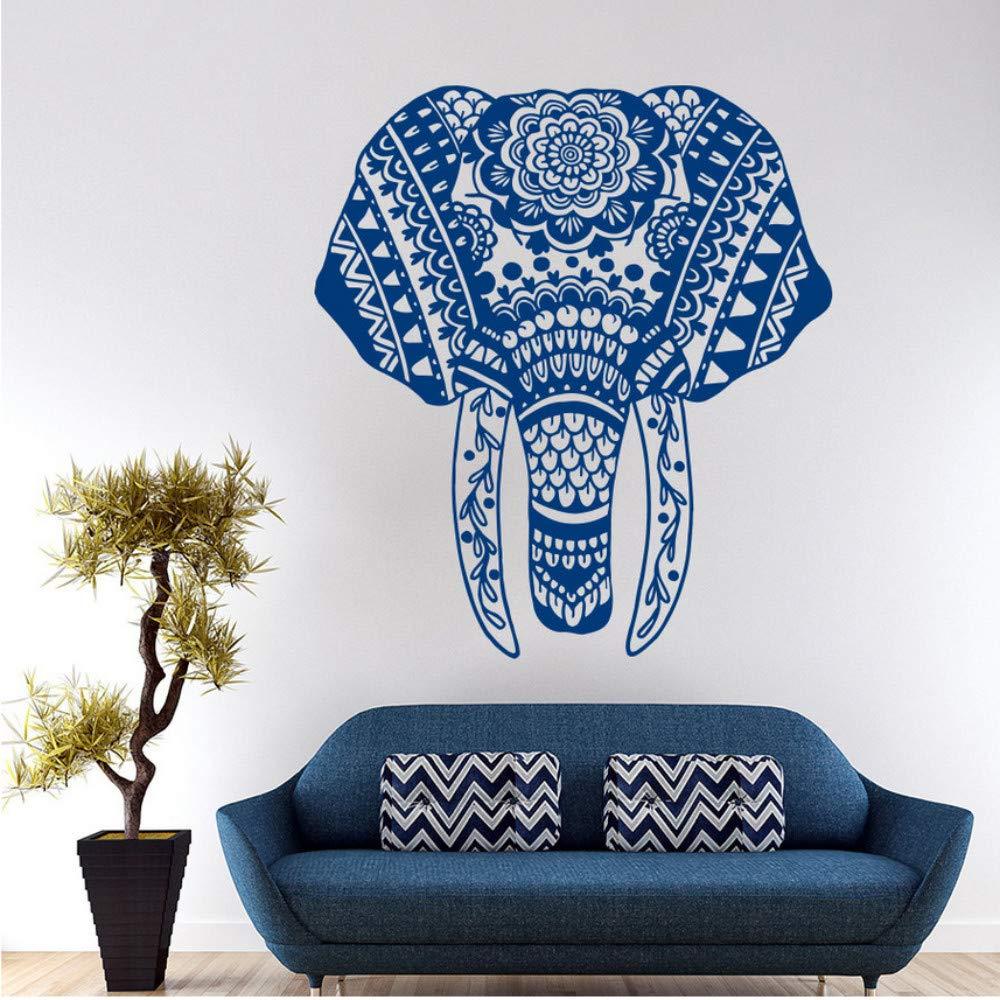 Dalxsh Tatuajes De Pared Elefante Mandala Meditación Buda Bohemio ...