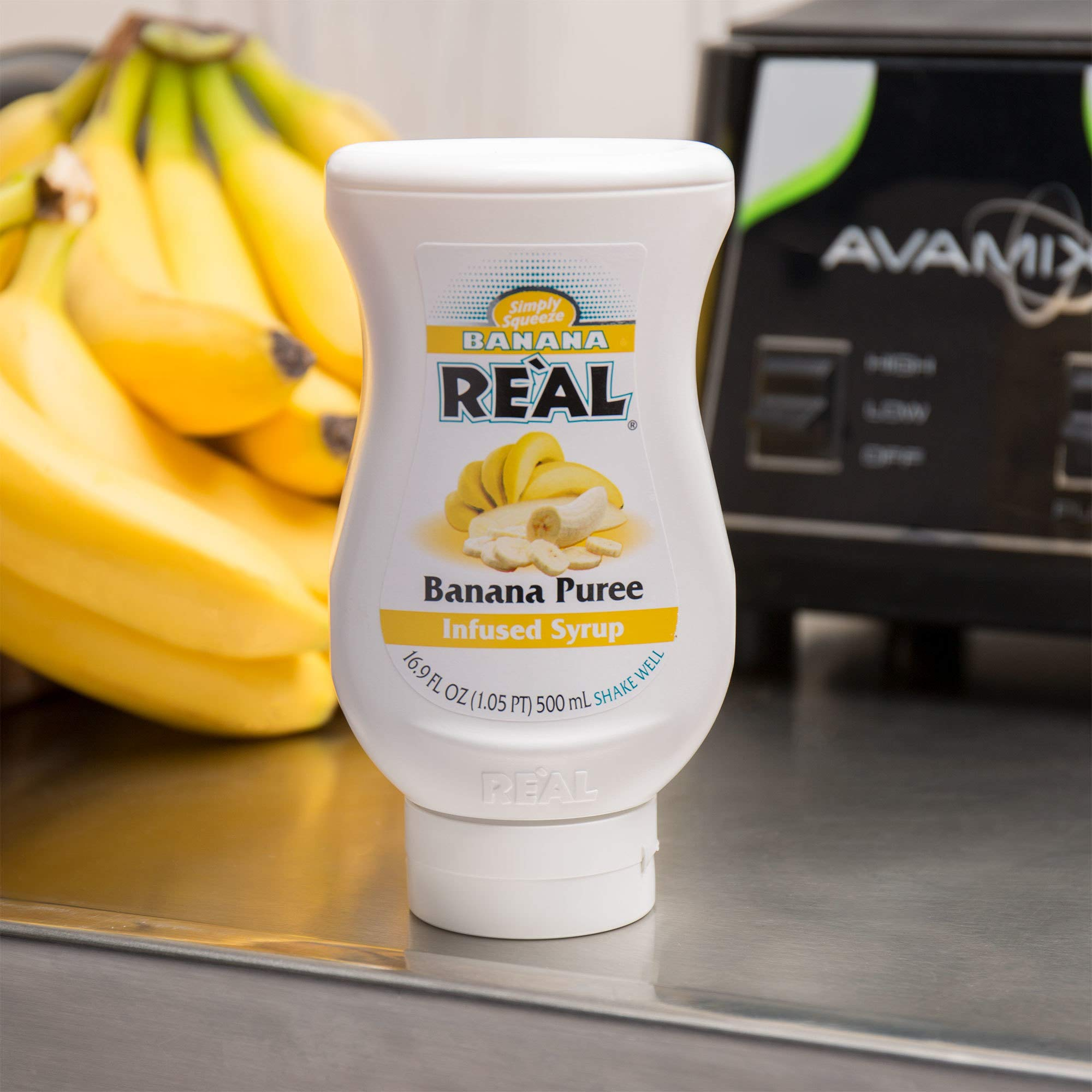 Banana Reàl, Banana Puree Infused Syrup, 16.9 FL OZ Squeezable Bottle | Pack of 12 by Reàl (Image #2)