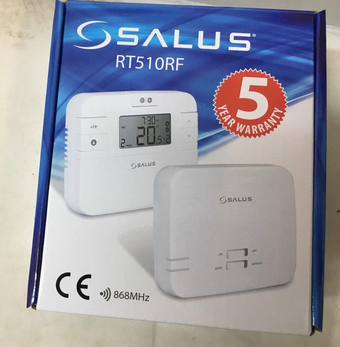 Termostato digital de la marca Salus, RT510RF, con radio frecuencia, inalámbrico, con receptor, repuesto directo para RT500RF: Amazon.es: Bricolaje y ...