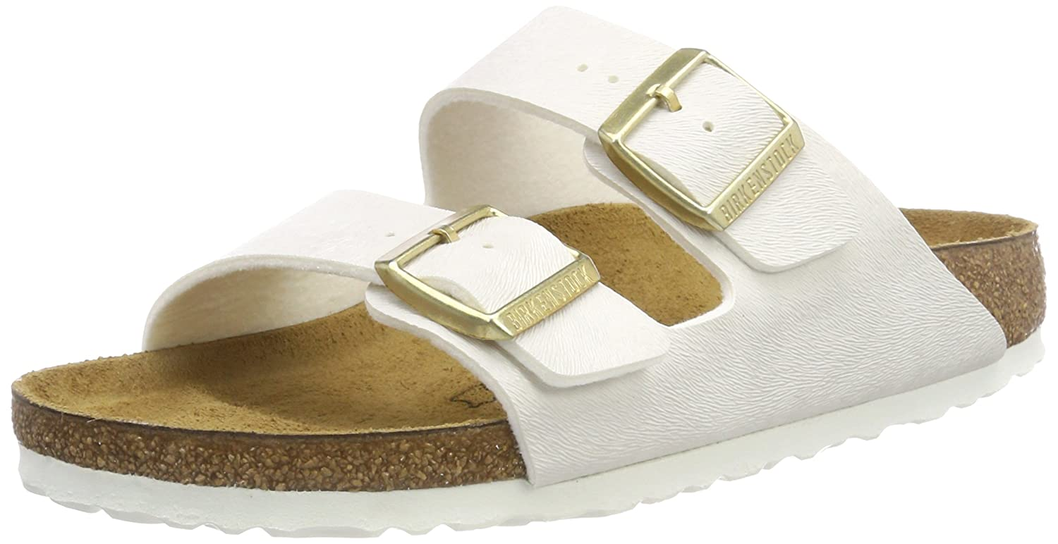 BIRKENSTOCK Damen Arizona Sandalen  38 EU|Wei? (Animal Fascination Offwhite Animal Fascination Offwhite)