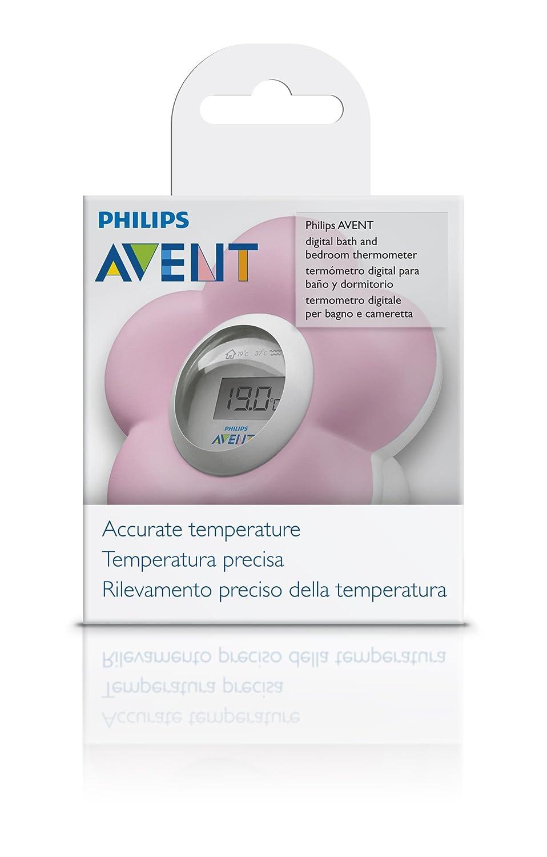 Philips Avent SCH550/21 - Termómetro para habitación y baño, color rosa: Amazon.es: Bebé
