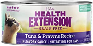 Health Extension Grain Free Tuna & Prawns Recipe Canned Wet Cat Food - (24) 2.8 Oz Cans