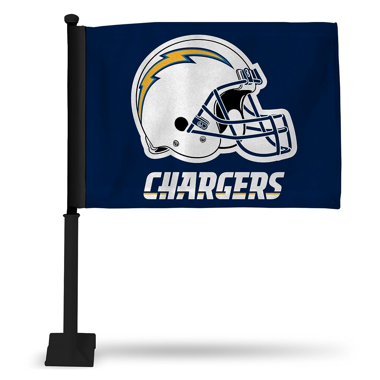 NFL San Diego Chargers車フラグ、ブラックポール   B0088DQMLW, カデンの救急社 0814c092