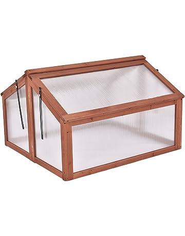13ed3b546e Giantex Garden Portable Wooden Cold Frame Greenhouse Raised Flower Planter  Protection